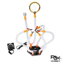 RJX USB LED Light Helping Hands Magnifier Station