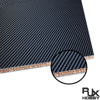 RJX 1+2+1mm Nomex Honeycomb Twill Matte Carbon Fiber Sheet