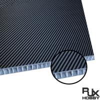 RJX 1+3+1mm Aluminum Honeycomb Core Twill Matte Carbon Fiber Sheet