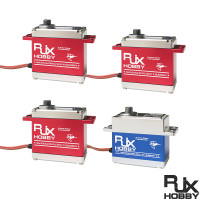 RJXHOBBY Brushless Digital High Voltage Standard Servo BLS0550HV (L40xW20xH41mm) x3pcs+Brushless Digital High Voltage Standard tail Servo BLS0550THV (L40xW20xH37mm) x1pcs