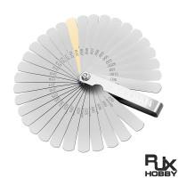 RJX 32PCS Blades Steel Feeler Gauge 0.0015-0.035 inch/ 0.04-0.88mm Dual Marked Metric and Imperial Gap Measuring Tool