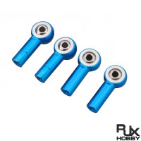 RJX M4 Aluminum Metal Rod Ends Ball Joint CW(2)& CCW(2) for Traxxas Axial Redcat Racing RC Car Airplane