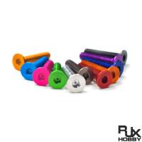 RJX 50pcs 7075 Alum M3*6/ 7 / 8 / 10 / 12 / 14 / 16 Counter Sunk Hex Screws