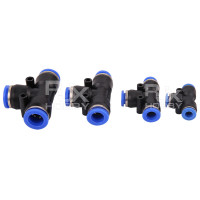 RJX 1pcs Agricultural Crop Protection UAV Fast Plug T-Cock T Joint 6 / 8 / 10 / 12mm Three Direct Links Water Pipe Connectors