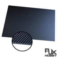 RJXHOBBY 3K 100% Full Carbon Fiber Sheet 500x400x0.5-10mm(Cross grain, Matte surface )