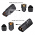 RJX 1 Pair Amass MT60 Three-hole Plug Connector Black Male & Female