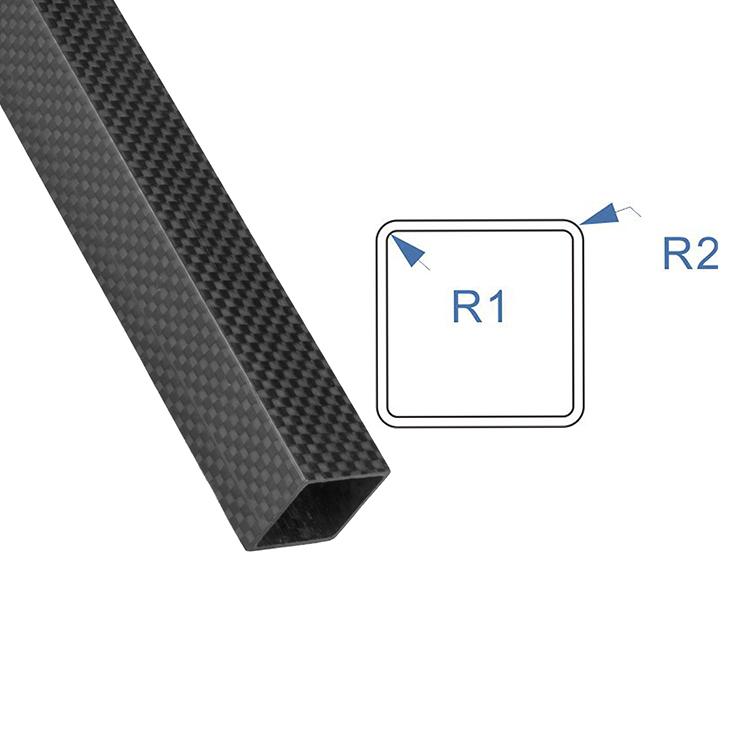 RJX Rectangular carbon fiber pipe customized outer diameter